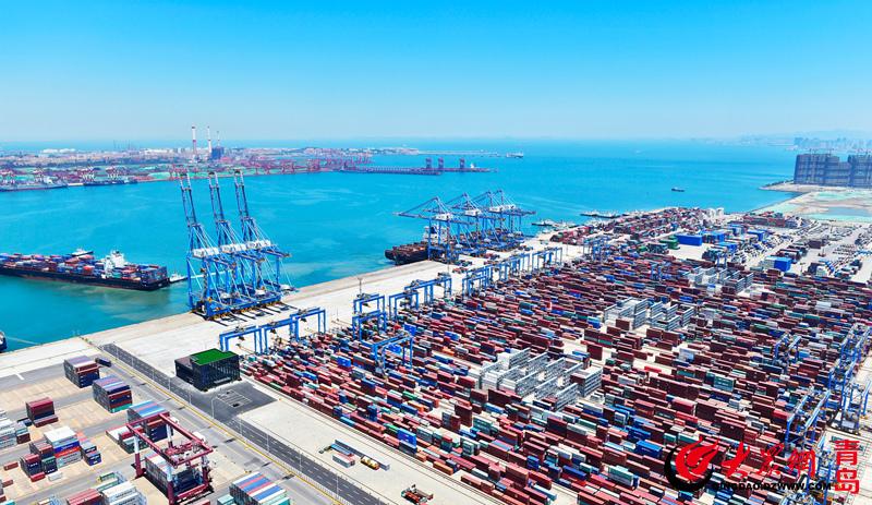 """青岛港和""""上合""""国家贸易密切 每年海运出口约50万标准"""