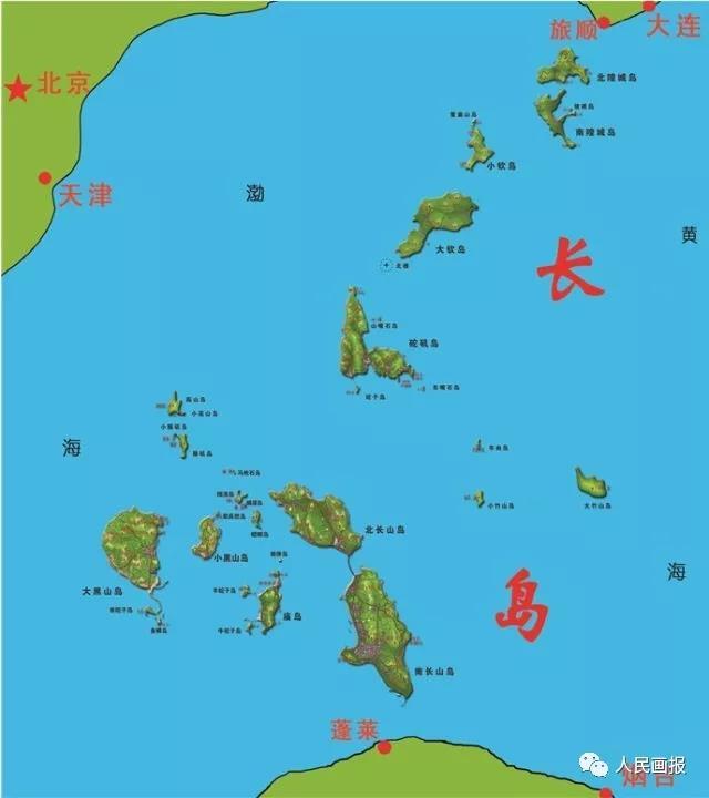 烟台长岛风景区地图