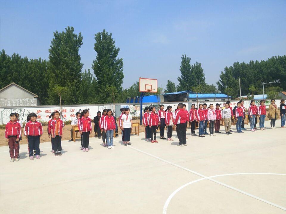 莒县寨里王标小学开展队形队列比赛活动