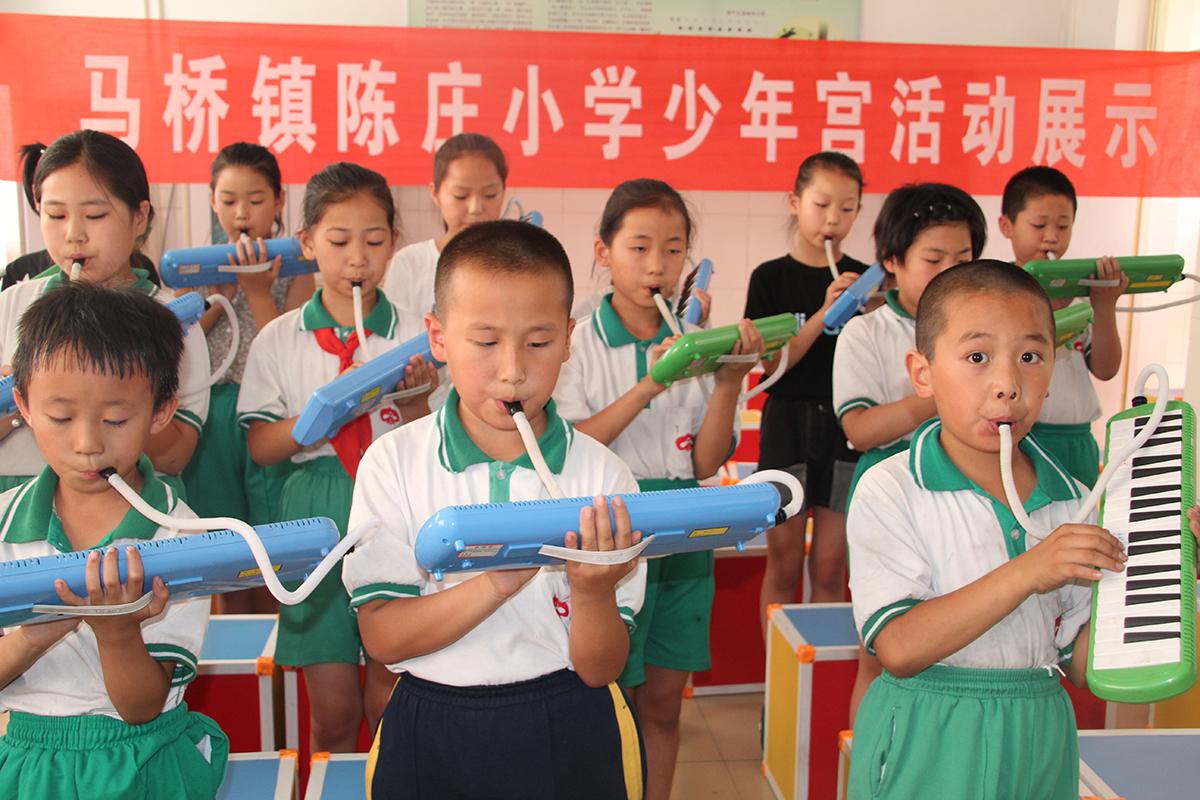 桓台县陈庄小学举行校本特色课程成果展示活动