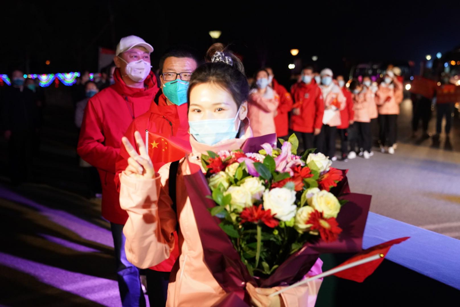 首批返京援鄂医疗队员抵达全总国际交流中心隔离休养