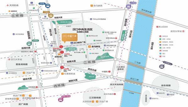 线 五地铁: 3号线,6号线,8号线,12号线,阳逻线(21号线) 7大公交线路