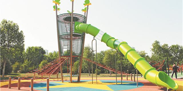 淄博市体育中心新增2处少儿活动设施