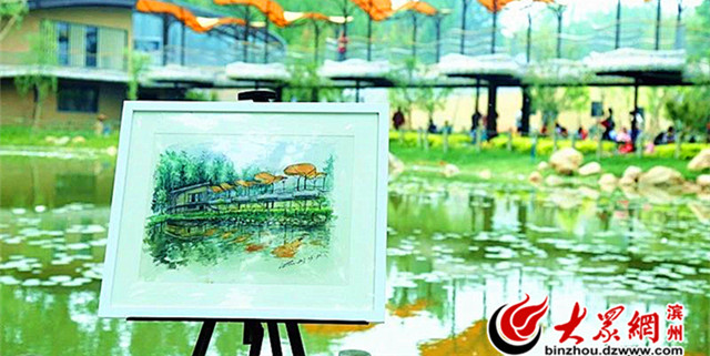 一景一画 滨州的景色在纸上是这样的