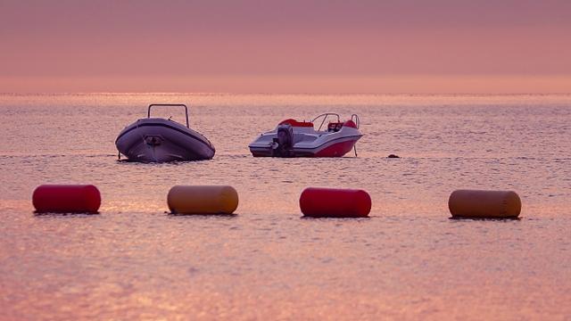 威海海水浴场日落风光