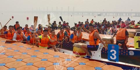 临沂2018龙舟邀请赛开赛 15支队伍献水上盛宴