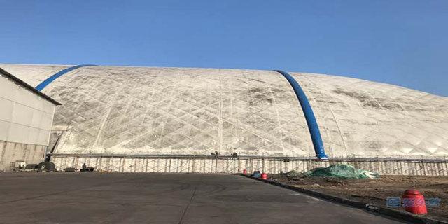 东营市建成全省首个气膜式封闭煤场