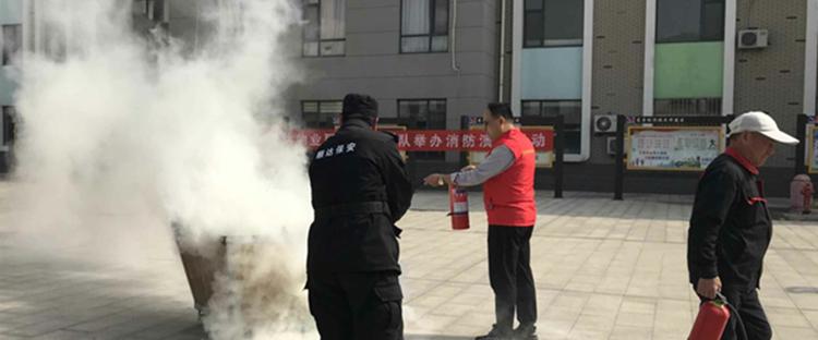东营:消防演练走进丽日社区