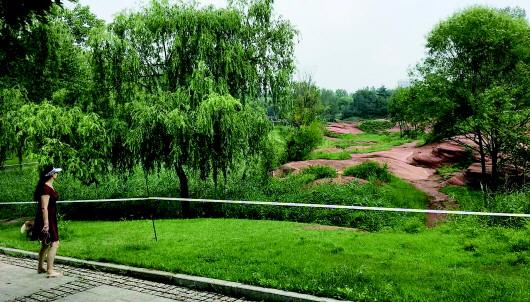 济南红石谷将设围挡增加观景台