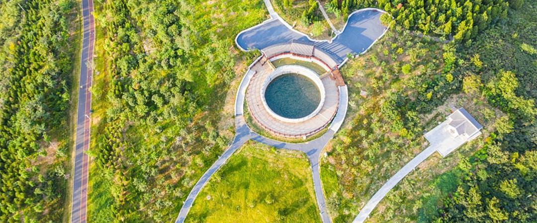 山东潍坊:航拍青州云门山森林公园