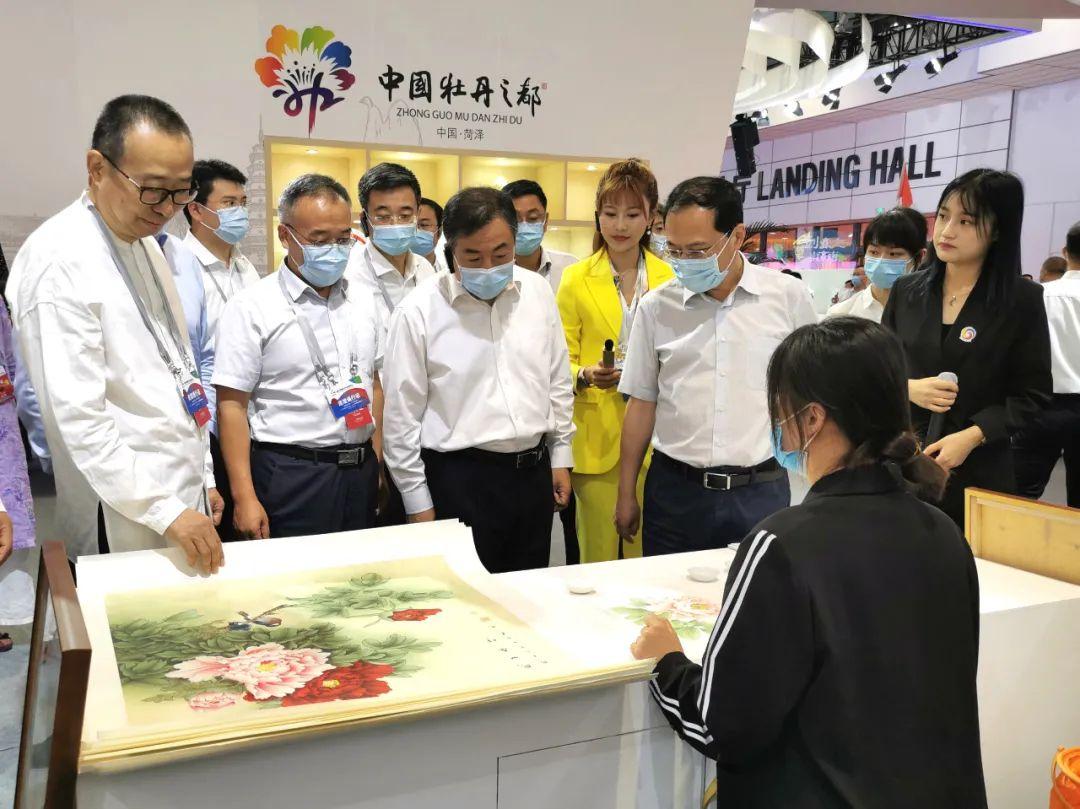 菏泽元素亮相首届中国文旅博览会,孙立成、于杰参观菏泽展区!
