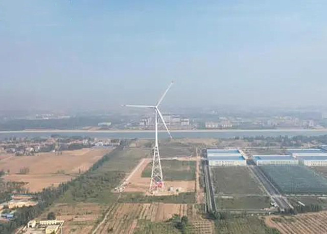 160米风电新高!全球首座构架式钢管风塔在菏泽并网发电!