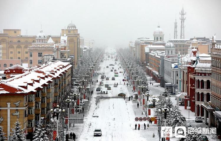 黑龙江漠河迎入秋最大降雪