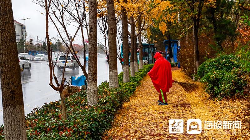 烟台初冬的第一场雨,美图来了~