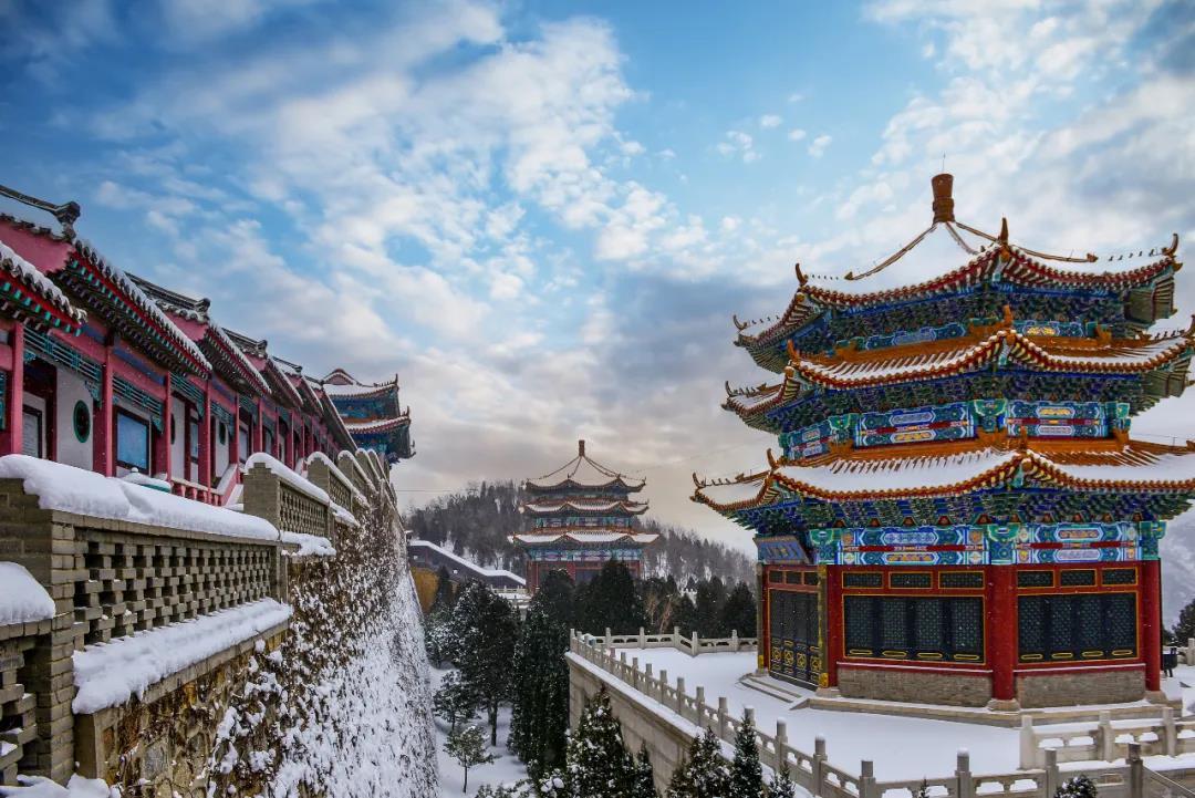 隆冬古韵,看烟台南山雪景!