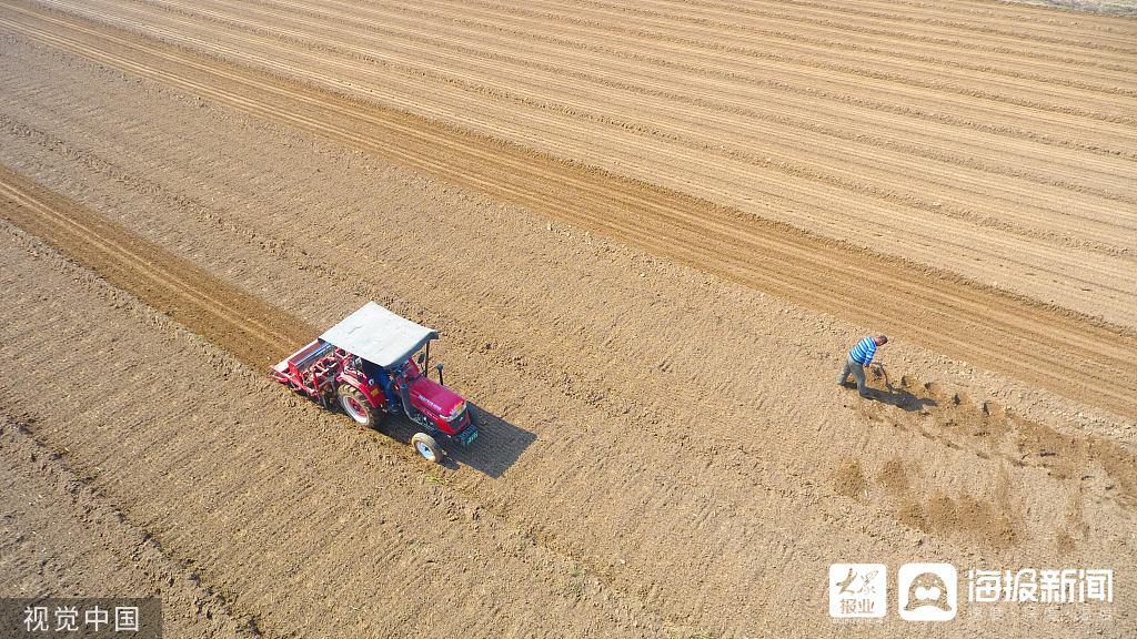 济南运用新技术抢抓墒情播种冬小麦