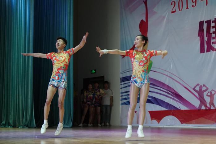 2019年日照市中学生运动会健美操比赛举行