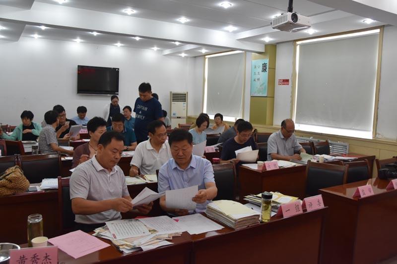 济宁市第三届硬笔书法比赛评审活动圆满完成