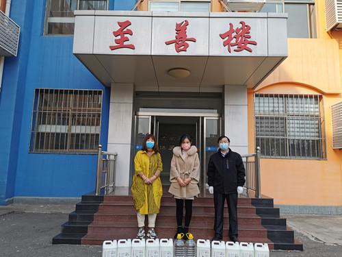 领先教育·淄博国际语言学校为桓台县实验小学捐赠防疫物品
