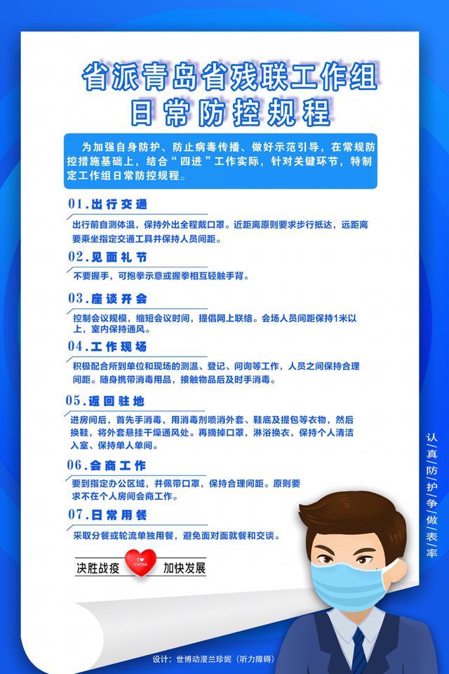 省派青岛省残联工作组:规范自我防控 做好示范引领