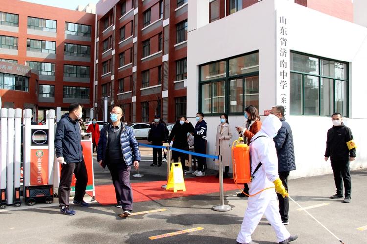 济南中学东校区举行模拟开学实战演习