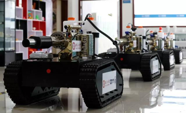 临沂大学研发智能防疫喷雾消毒机器人