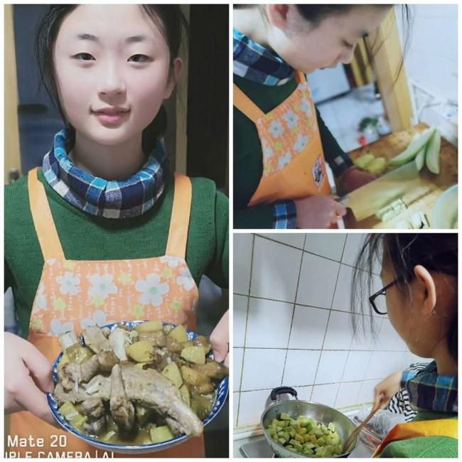 """荣成市第三十三中学开展""""我为家人做道菜""""实践活动"""