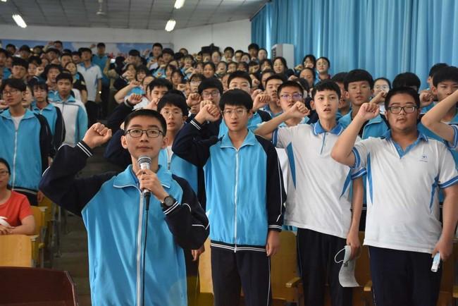 荣成市第二十三中学举行冲刺中考誓师大会