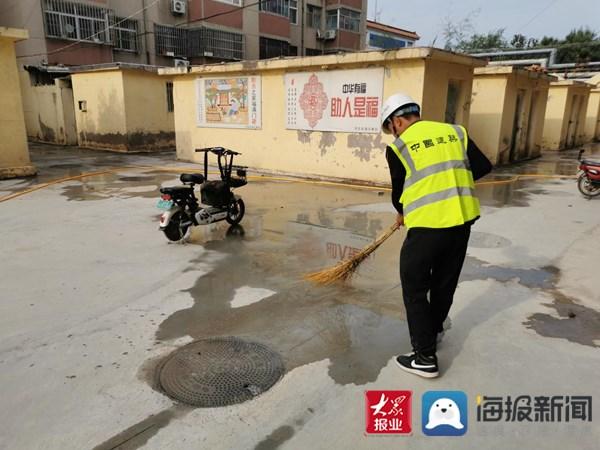 """中建八局""""绿马甲""""志愿服务 助力滨州创建文明城市"""