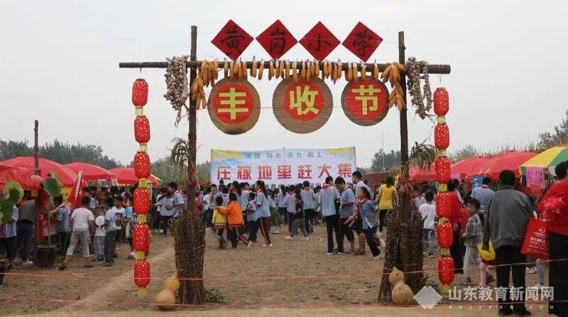 庄稼地里赶大集!郓城县黄岗小学举办首届田园丰收节