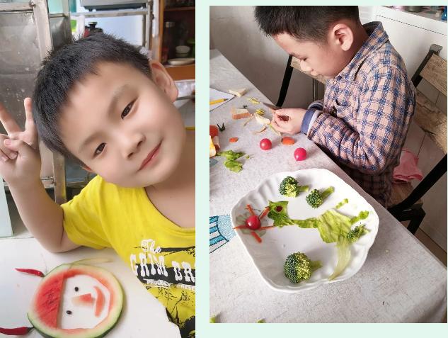 """你好,大自然——燕翔小学一年级学生""""蔬果大变身"""""""