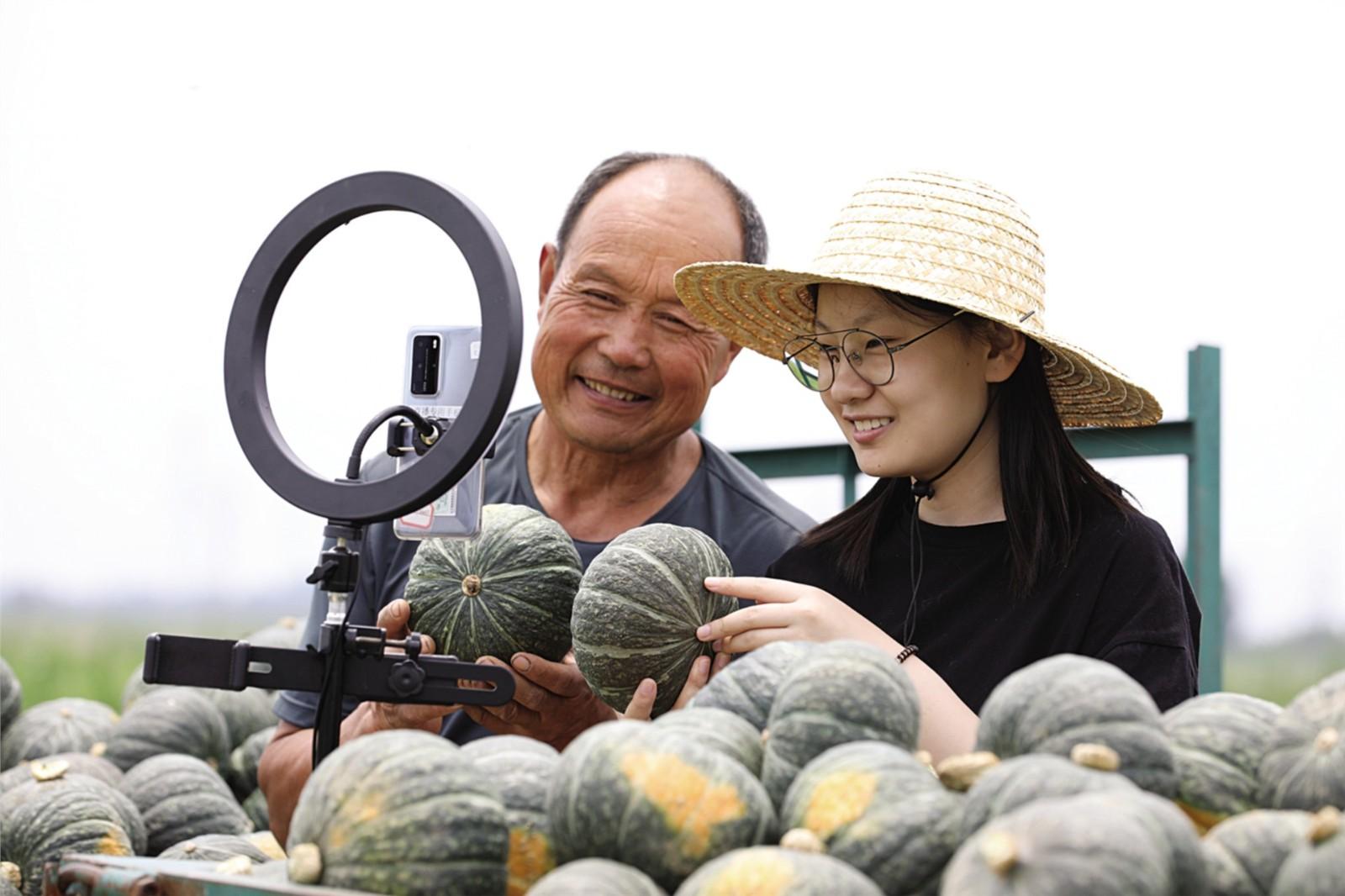 直播带货,第一季丰收的南瓜卖完了!——临沂市高级财经学校助力乡村振兴侧记