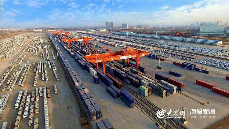 平原海铁联运内陆港,可实现原材料的快速购进和产品销售的全国辐射