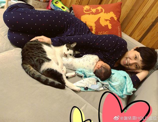 生下第二个孩子后,谢依霖的第一份最新发展比小猫的骨架更可爱。
