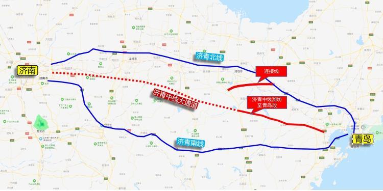 大众网·海报新闻@潍坊至青岛段用地预审与规划选址获批,济青高速中线有新进展