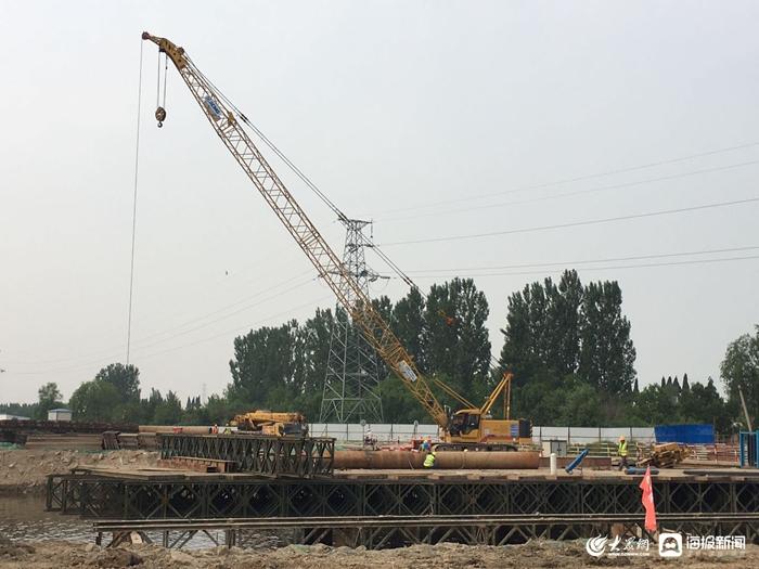 桥涵施工有条不紊 东营庐山路南延工程建设持续推进