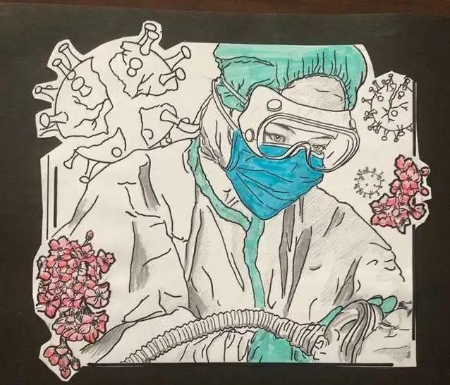 """""""艺""""起抗疫——夏津县教育系统师生抗击疫情绘画作品展播"""