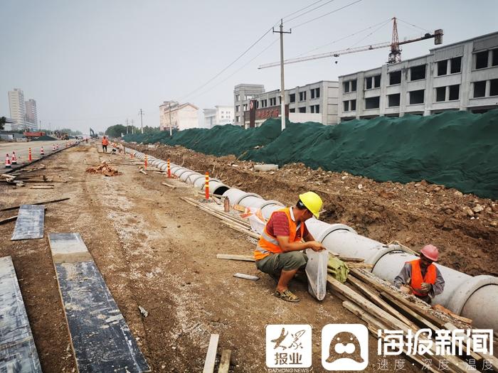 """""""源头""""上改善城市内涝!河口区河滨路雨污排改造工程目前已正式开工"""