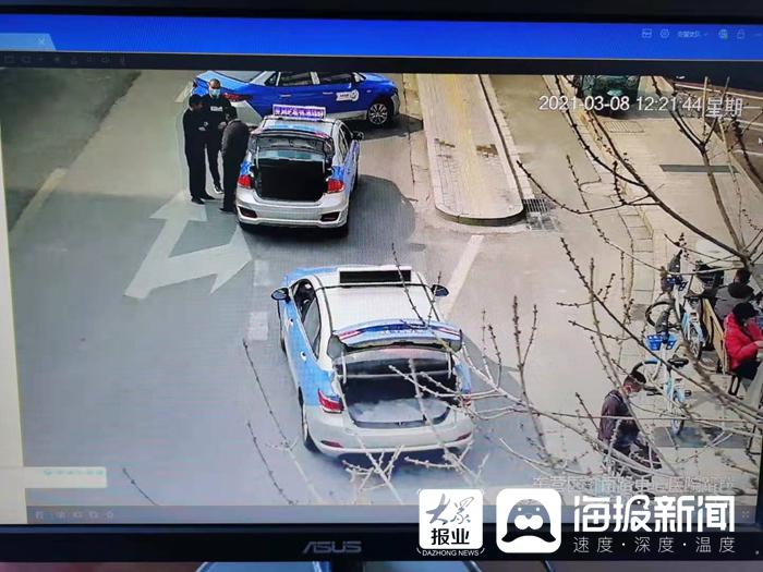 東營交警集中治理轄區私家車及出租車違停行為