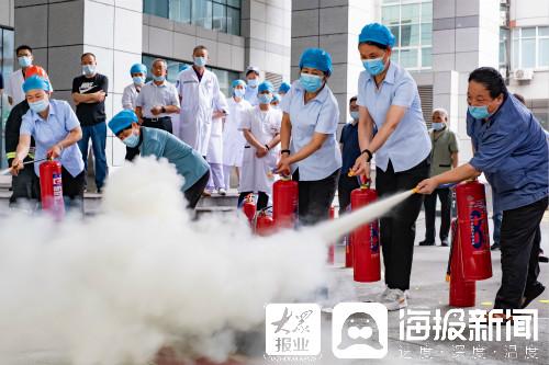 临沂市中医医院开展消防疏散应急演练