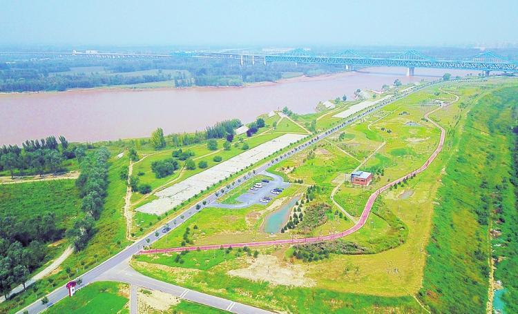 黄河畔两处郊野公园对外开放