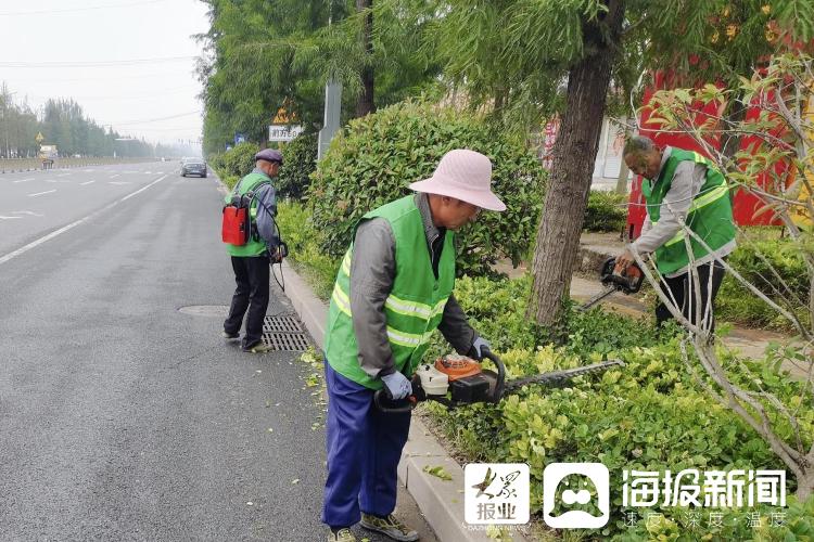 罗庄提高绿化景观效果 助力文明城市创建