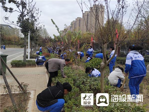 郯城一中开展班级绿植认领美化校园实践活动