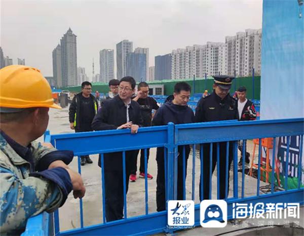 专项检查和突击检查相结合!临沂北城加强雨天工地管理