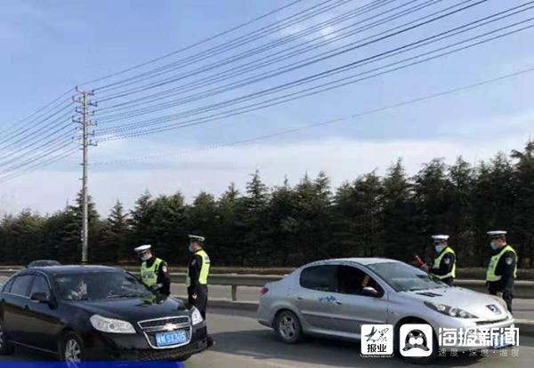 临沂临港交警大队:执法、防疫相融合 确保春运安全