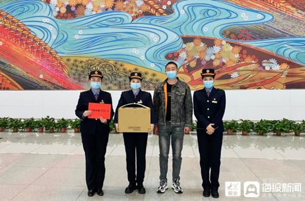 暖心!春节期间临沂北站收到600只爱心口罩